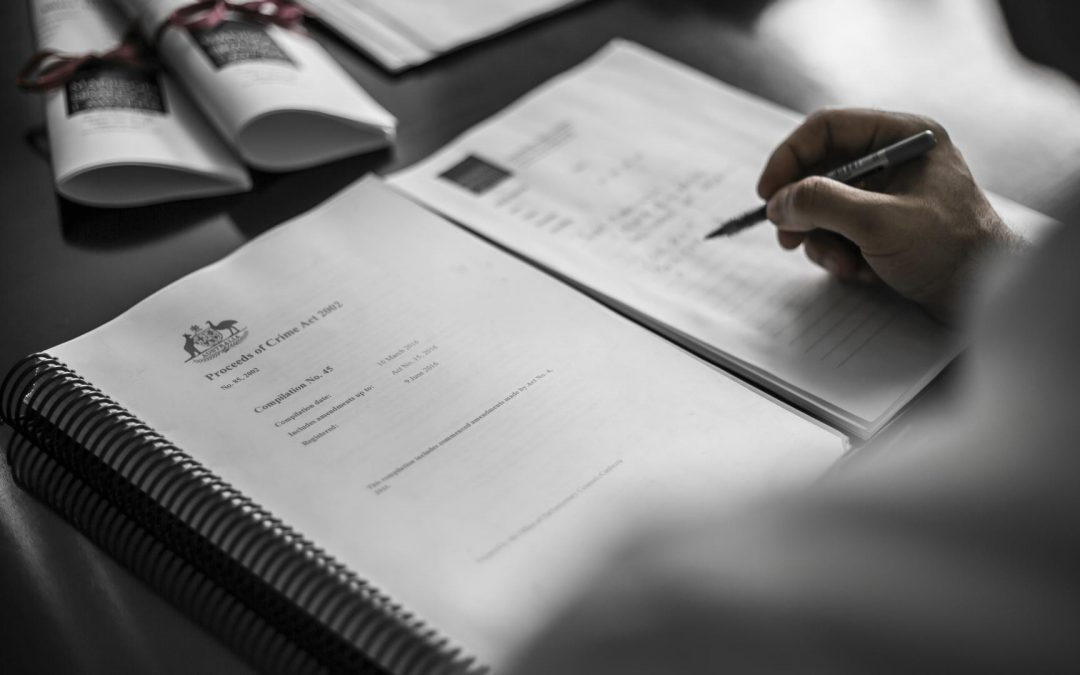 Restraining orders made under the Proceeds of Crime Act 2002 (Cth)